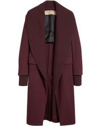 Burberry - Cashmere Detachable Collar Coat - Lyst