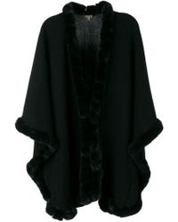 e26675e279de N.Peal Cashmere Rabbit-Fur Gilet in Black - Lyst