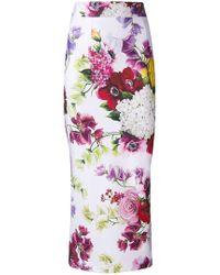 Dolce & Gabbana - Floral Print Skirt - Lyst