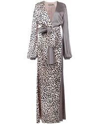 Silvia Tcherassi - Panelled Maxi Wrap Dress - Lyst