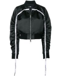 Versus - Ruched Bomber Jacket - Lyst