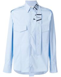 Valentino - Vltn Shirt With Tie Collar - Lyst