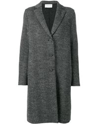 Harris Wharf London - Chevron Single Breasted Coat - Lyst