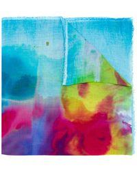 Avant Toi - Watercolour Print Scarf - Lyst
