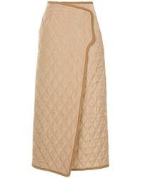 G.v.g.v - Quilted Midi Skirt - Lyst