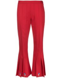 Marco De Vincenzo - Cropped Flared Trousers - Lyst
