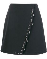 Versus - Safety Pin-embellished Skirt - Lyst