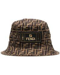 Fendi - Sombrero de pescador con bolsillo interior y motivo FF - Lyst 1c9114278fb