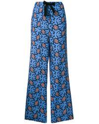 Victoria, Victoria Beckham - Graphic Print Trousers - Lyst