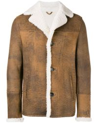 DESA NINETEENSEVENTYTWO - Shearling Single-breasted Coat - Lyst