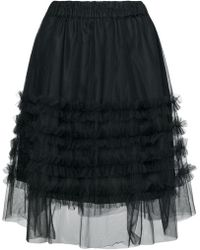 P.A.R.O.S.H. - High-waisted Ruffle Skirt - Lyst