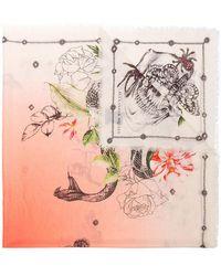 Alexander McQueen - Multicoloured Botanical Print Wool Scarf - Lyst