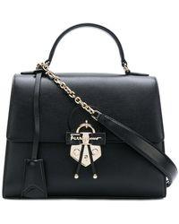 Ferragamo - Gancio Embellished Top Handle Bag - Lyst