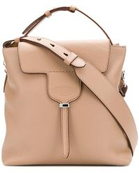 Tod's - Square Flap Tote Bag - Lyst