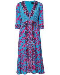 Saloni - Multi-print Dress - Lyst