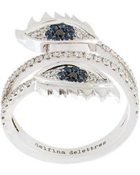 Delfina Delettrez - Embellished Eyes Ring - Lyst