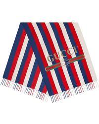 Gucci - Sylvie Stripe Modal Silk Scarf - Lyst
