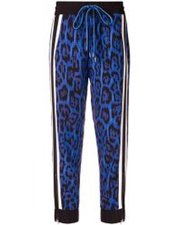 Just Cavalli - Abstract Print Track Trousers - Lyst