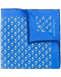 Ferragamo - Golf Club Print Pocket Square - Lyst