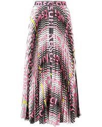 MSGM - Mix Print Pleated Skirt - Lyst