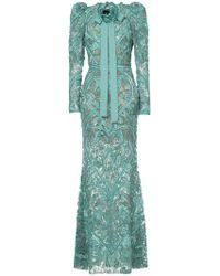 Elie Saab - Long Sleeves Full Embellished Column Gown - Lyst