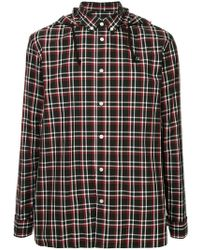 Undercover - Checked Hooded Shirt - Lyst