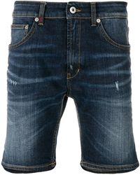 Dondup - Faded Denim Shorts - Lyst