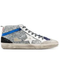 8163b68b6c88 Golden Goose Deluxe Brand - Metallic Mid Star Glitter Embellished Hi-top  Leather Sneakers -