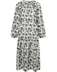 Sara Lanzi - Floral Print Dress - Lyst