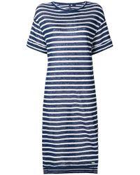 Woolrich - Striped Flared Dress - Lyst