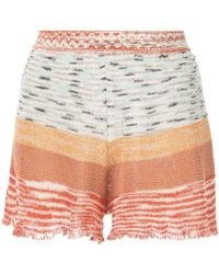 Missoni - Striped Knitted Shorts - Lyst