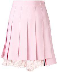 Thom Browne - Lace Trim Bloomer Miniskirt - Lyst