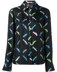 Olympia Le-Tan - Car Print Shirt - Lyst