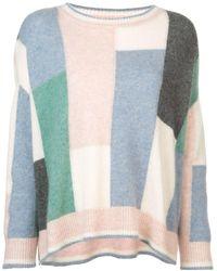 Adam Lippes Colour-block flared sweater - Multicolore