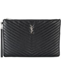 Saint Laurent - Large Monogram Document Holder - Lyst