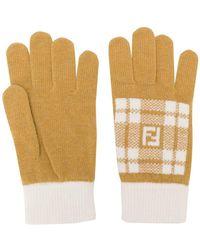 Fendi - Gestrickte Handschuhe - Lyst