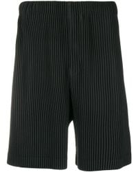 Homme Plissé Issey Miyake - Pleated Bermuda Shorts - Lyst