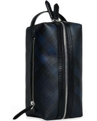 Burberry - London Check And Leather Pouch - Lyst