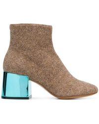 MM6 by Maison Martin Margiela - Contrast-heel Ankle Boots - Lyst