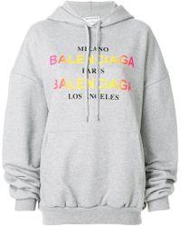 Balenciaga - Logo Hoodie - Lyst