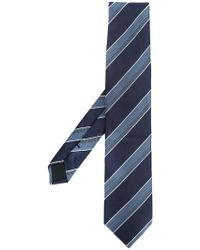 BOSS - Stripe Embroidered Tie - Lyst