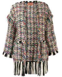 Missoni - Fringed Cardi-coat - Lyst