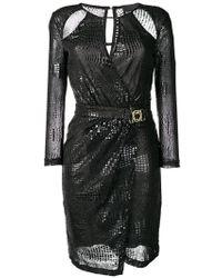 Just Cavalli - Crocodile Effect Cutout Dress - Lyst