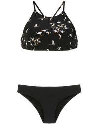 63b0cab0c0df7 Osklen Criss Cross Top Bikini Set in Black - Lyst