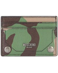 Moschino - Camouflage Print Cardholder - Lyst