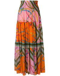 Pinko | Printed Maxi Skirt | Lyst