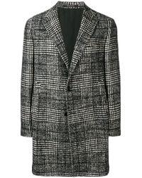 Tagliatore - Checked Coat - Lyst