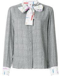 Ultrachic - Contrast Neck-tied Blouse - Lyst