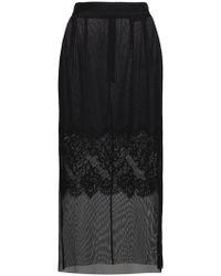 Dolce & Gabbana - Layered Lace Pencil Skirt - Lyst