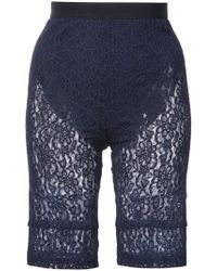 Nina Ricci - Lace Fitted Shorts - Lyst